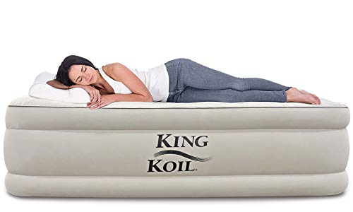 King Koil Twin Air Mattress with Built-in Pump - Double High...