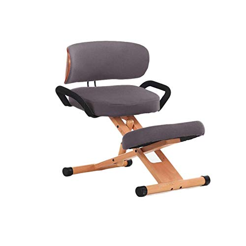 YGU Chairs Adjustable Ergonomic Knee Chair with Backrest with Handle High Knee Chairs Computer Chair Office Chairs Computer Chair, Desk