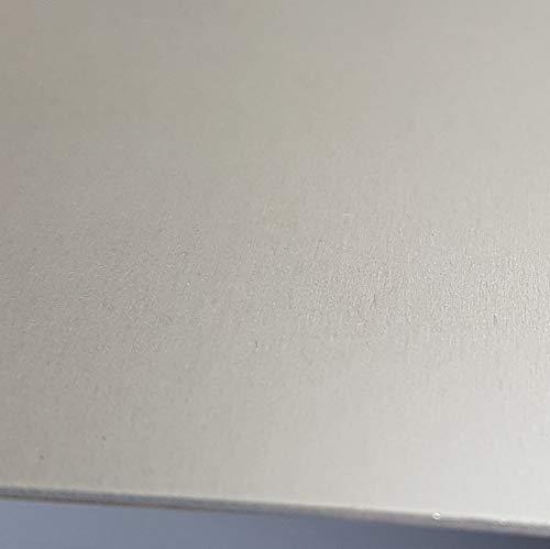1x Aluminium Blech eloxiert 500x500x1,0mm Alublech, E6/EV1 eloxiert, einseitig mit Schutzfolie