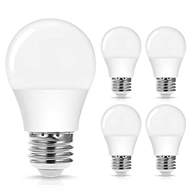 JandCase 4W A15 LED Light Bulb, 40W Equivalent, Dimmable, E26 Medium Base, 400LM, Warm White 3000K, Ideal Lighting for Ceiling Fan, Freezer Light, Chandelier, Bedroom, Home/Office, 4 Pack