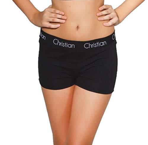 Christian zwarte dames katoen, hoge, iconische logo-band, dames boxershorts Panties