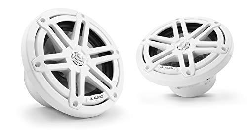 JL Audio M3-650X-S-Gw: 6.5-inch (165 mm) Marine Coaxial Speakers, Gloss White Sport Grilles