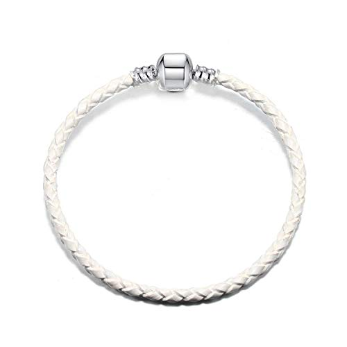 Alicesks 20 Styles Leather Chain Charm Bracelets with DIY Fine Bracelets Bangles for Women Jewelry Gift-Leather Chain 007-17cm