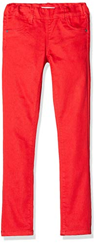 NAME IT Mädchen NKFPOLLY TWIATINNA Leggings, Rot (High Risk Red High Risk Red), 158