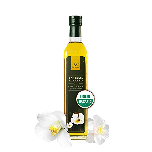Sunplan Organic Camellia Oil – All Natural Camellia Tea Seed Oil - Extra Virgin Cold Pressed Cooking Oil (17 oz)
