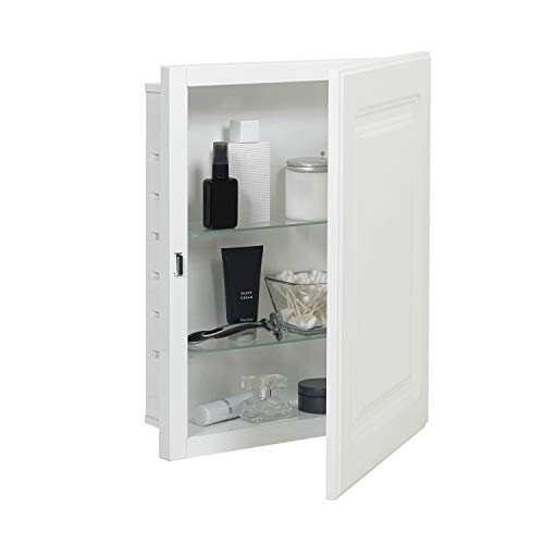 American Pride G9612RPR1 Recess-Mount Medicine Cabinet with Raised Panel Door, 16' x 20', Steel Body, White