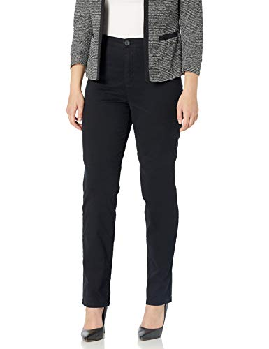 Gloria Vanderbilt Women's Amanda Refined Trouser Pant, Black, 16 Short