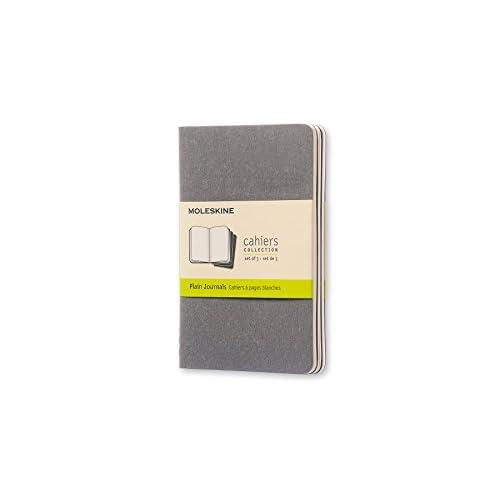 Quaderno Tascabile Pagine Bianche, Grigio Chiaro, 3 pezzi