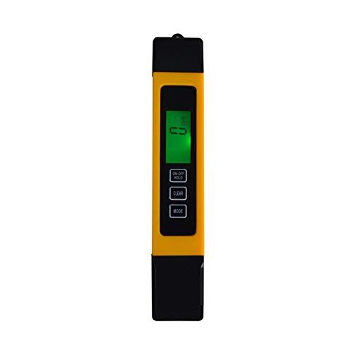 CHENG TDS Test-Feder, Wasserqualität Tester Tap Wasserhärte Tester Temperaturtest Leitfähigkeitsmessgerät Tragbares EC Messgerät für Haushalt Trinkwasser Aquarien