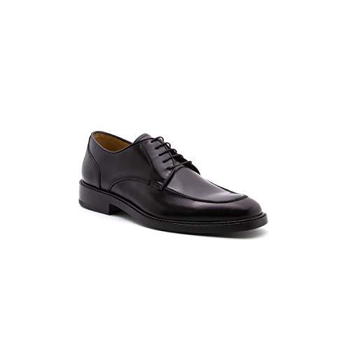 Zapatos para Hombre Estilo Derby con Acabado Brillante Duque (26, Vino)