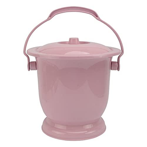 NUOBESTY Plastica Vasi di Urina Toilette Portatili Portatile Orinatoio Secchio Bambini Camera di Casa di Urina Secchio con Coperchio per Le Donne E Gli Uomini (Rosa)