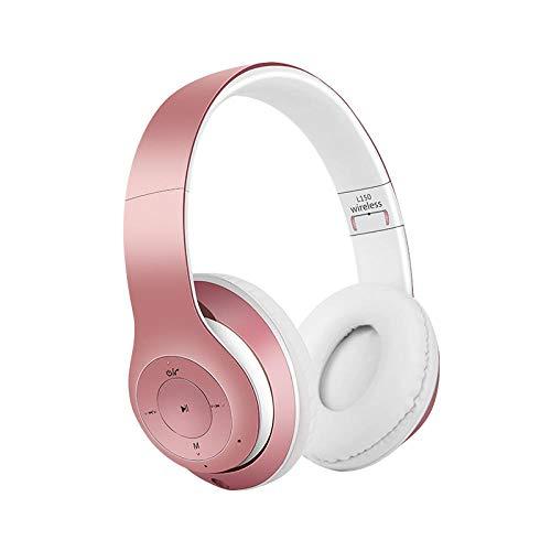 Lärmreduzierendes Headset Wireless Bluetooth Headset Sport Running Headset Scalable Computer Game Headset One size rose gold