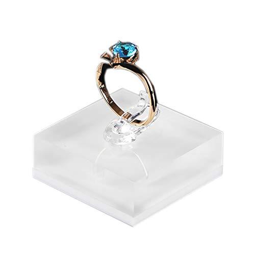 HOTPINK1 Soporte para joyas de acrílico transparente para fotografía