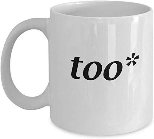 N\A Taza de café Divertida Taza de té de café Gramática Policía Que corrige Demasiado Inglés Comandante Humor Adulto Co