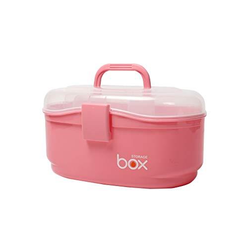 Hausapotheke Medizin-Aufbewahrungsbox Mehrschicht-Medizinbox tragbare Erste-Hilfe-Box Medizin-Multifunktionsbox WGLGL (Color : Pink, Size : 23.5×14.8×15cm)