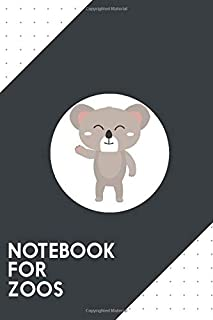 Notebook for Zoos: Dotted Journal with Friendly waving koala Design - Cool Gift for a friend or family who loves australian presents! | 6x9"