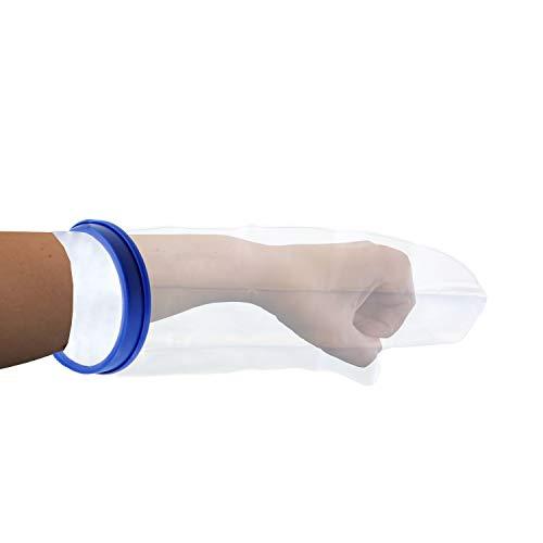 Pulox Gipsschutz, Verbandschutz für Bad und Dusche, Arm kurz, Erwachsene wiederverwendbar und wasserdicht