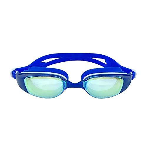 WDZJM Máscara de Buceo Gafas de natación de Marco Grande de Alta definición Anti-Niebla y Gafas Impermeables para Nadar Gafas de natación Profesional (Color : E)