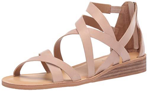 Lucky Brand Women's Helenka HIGH Heel Wedge Sandal, Stone, 11 M US
