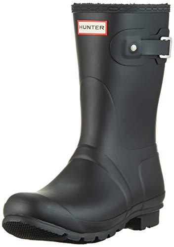 Hunter Boots Women's Original Insulated Short Rain Boot Black 7 Medium US