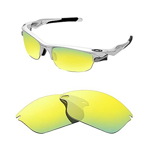 Lentes de repuesto polarizadas para gafas de sol Oakley Fast Jacket.