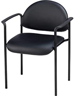 Lorell Reception Guest Chair, 23-3/4 by 23-1/2 by 30-1/2-Inch, Black Vinyl
