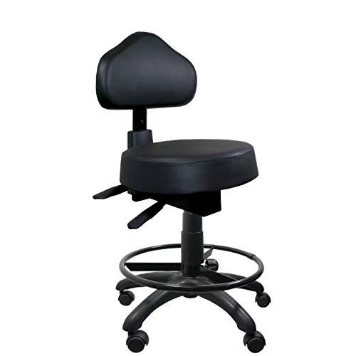 Cadeira Mocho Preto Ergonômico Com Aro - ULTRA Móveis