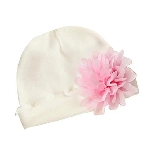 anyuq66qq Chapeau Filles Infant Toddler Flower Hat Coton Soft Hat Cap Fre05 F804, White