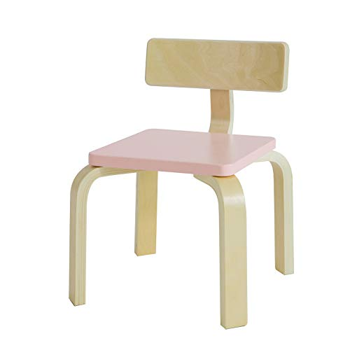 SoBuy KMB29-P Kinderstuhl mit Rückenlehne Kinderzimmer Stuhl Kindermöbel Kindersitzmöbel Kinderhocker pink Sitzhöhe: 26cm