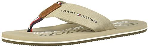 Tommy Hilfiger Sandalia para Caballero; Beige Claro; Talla 27.5