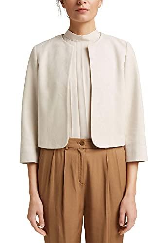 ESPRIT Collection 051EO1G303 Blazer, 290/beige Claro, 36 para Mujer