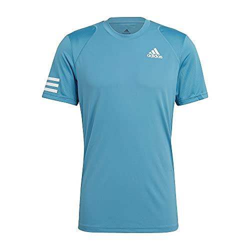 adidas Herren Club 3str Tee Unterhemd, Azubru weiß, L EU