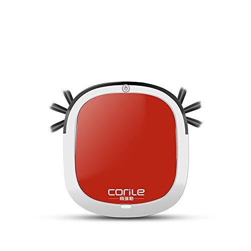 JQRXCQ Robot Aspirador Un botón para iniciar la inducción Evitación de obstáculos Succión Carga Carga Carga Inteligente Robot de Barrido,Rojo