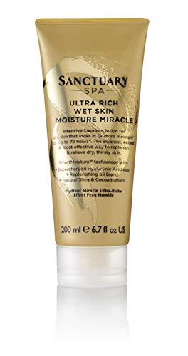 Sanctuary Spa Body Lotion Ultra Rich Wet Skin Moisture Miracle Body Moisturizer für trockene Haut, 200 ml