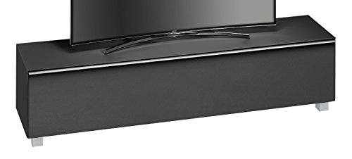 MAJA Möbel SOUNDCONCEPT Glass 7738 Soundboard, Glas, Schwarzglas matt - Akustikstoff schwarz, 180,20 x 42 x 43,30 cm
