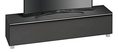 MAJA Möbel SOUNDCONCEPT Glass 7738 Soundboard Schwarzglas matt-Akustikstoff schwarz, Abmessungen (BxHxT):180,20 x 43,30 x 42 cm, Glas, 20 x 42 x 43,30 cm