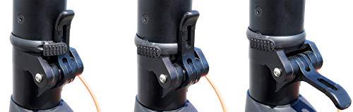 Scoot One E-Scooter E7 - mit Straßenzulassung /ABE, Herausnehmbarer PANASONIC Lithium-Ionen-Akku, 20 km/h, 8,5 Zoll Luftreifen, schwarz - 8
