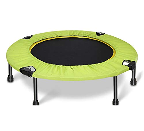 LKFSNGB trampoline voor volwassenen, 38 inch, opvouwbaar, voor binnen en buiten, fitness trampoline voor kinderen, volwassenen, roestvrij stalen veer