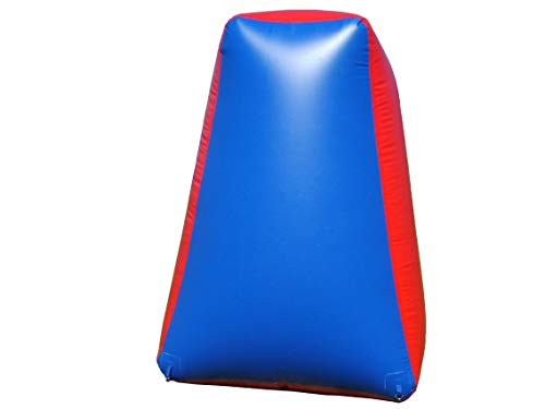 Sportogo Inflatable Air Bunker Pyramid for Paintball, Airsoft, Archery, Laser Tag, 1 Piece, 5 Foot Tall, Blue & Red