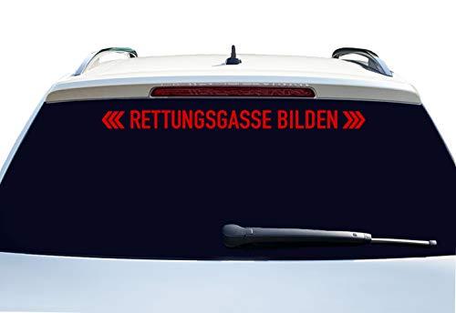 PrintAttack P002 | Rettungsgasse bilden - Auto Aufkleber 60 cm Breite | Aufkleber | Auto | Car | Heckscheibe | Heck (324 Blutort)