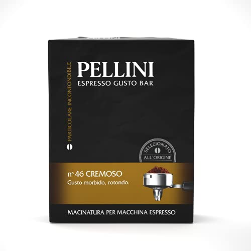 Pellini Caffè Espresso Gusto Bar Macinato per Macchina Espresso N.46 Cremoso, Confezione da 2 x 250 g, 500 g