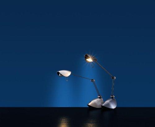 Designer Halogen Tisch-leuchte sand seidenmatt Schreibtisch-lampe Arbeitslampe
