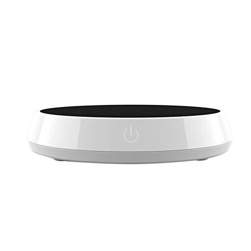 Einsgut USB-kopjesverwarmer, intelligente verwarming, onderzetter, zwaartekrachtsensor, kopjeswarmer, warmte, tafelset, elektrische thermostaat, beker, mat, warme verwarming EU wit