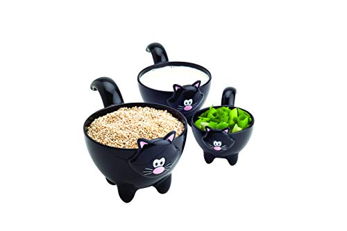Joie Meow Cat Stackable Kitchen Measuring Cups Set, Colors Vary