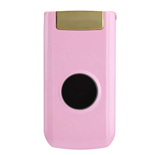 PUSOKEI X6 2.4in Screen Mini Flip Phone, teléfono móvil portátil con batería de 1100mAn 32 MB + 32 MB de Espera Prolongada, para Personas Mayores y niños (Rosa) 100-240 V(Rosa)