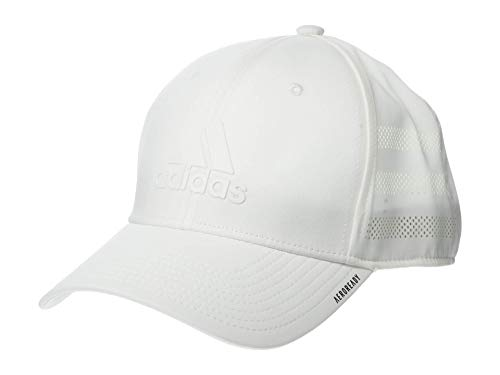 adidas Gameday Stretch Fit Structured Cap Gorras de béisbol, Blanco, S/M para...