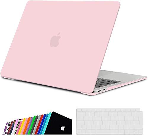 iNeseon MacBook Air 13-Zoll Hülle Case 2020 2019 2018 A2337(M1)/ A2179/ A1932, Plastik Case Schutzhülle + Tastaturschutz für MacBook Air 13 mit Touch ID, Rose Quartz