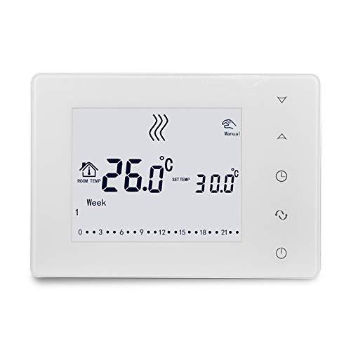 HY05RF Wifi 433Hz Pantalla táctil LCD multifuncional Termostato inteligente Termostato de caldera de pared Controlador de temperatura del hogar