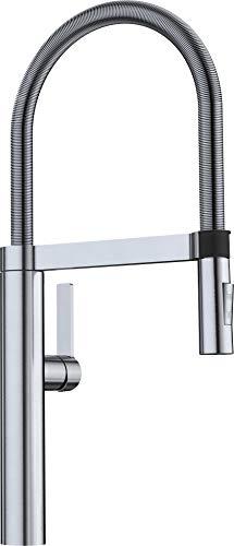 BLANCOCULINA-S Umschaltbare Einhebel-Armatur im Profi-Look / Flexibler Brauseschlauch in Edelstahl finish / Hochdruck