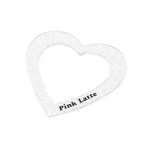 ピンク ラテ(PINK latte) ラメクリアハートバングル【シルバー(006)/00】